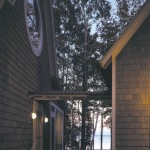 Washington Island House breezeway, evening view