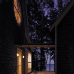 Washington Island house breezeway, night view