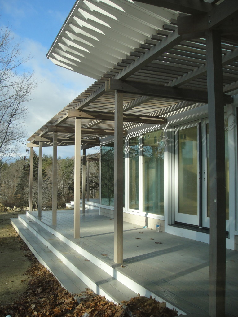Sun shaded by pergola